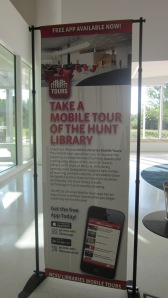 Banner promoting mobile app tour of the Hunt Library, North Carolina State University